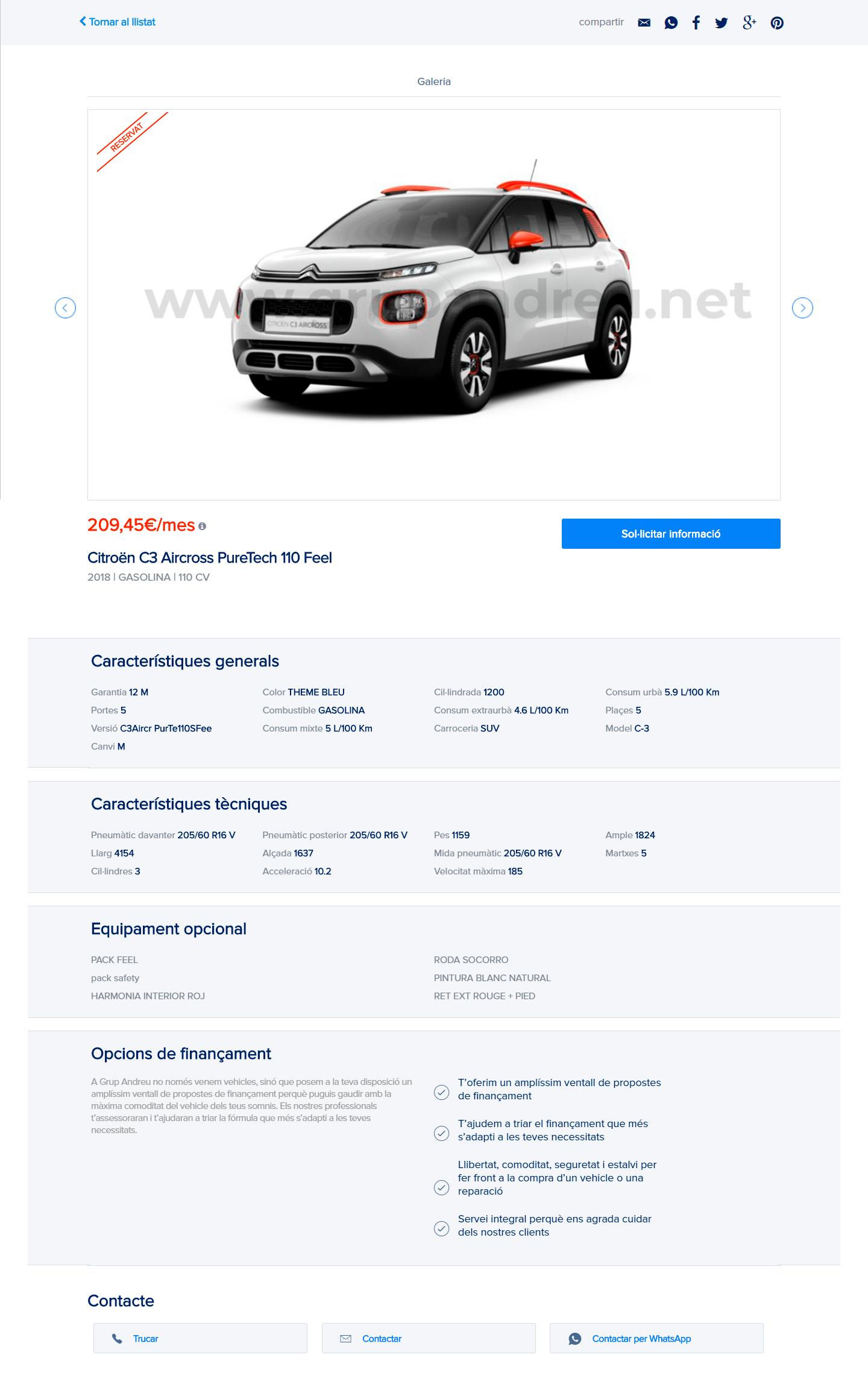 Grupandreu venda coches