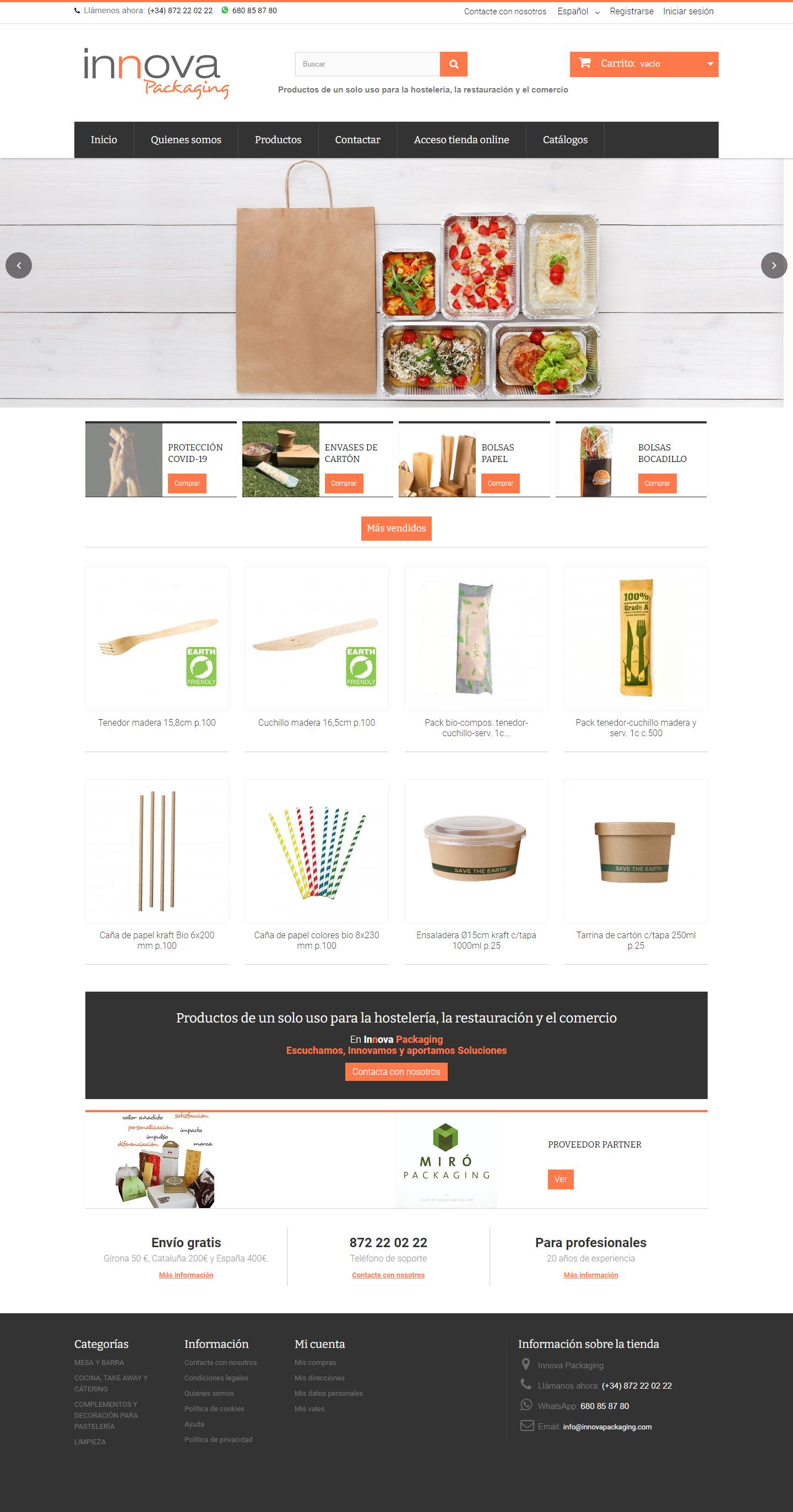 Tienda virtual Innovapackaging
