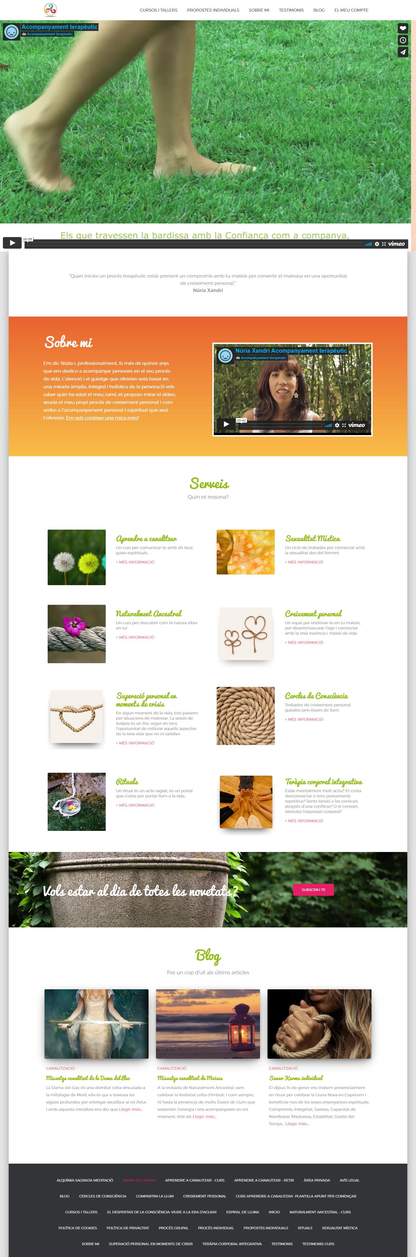 Pàgina web de Núria