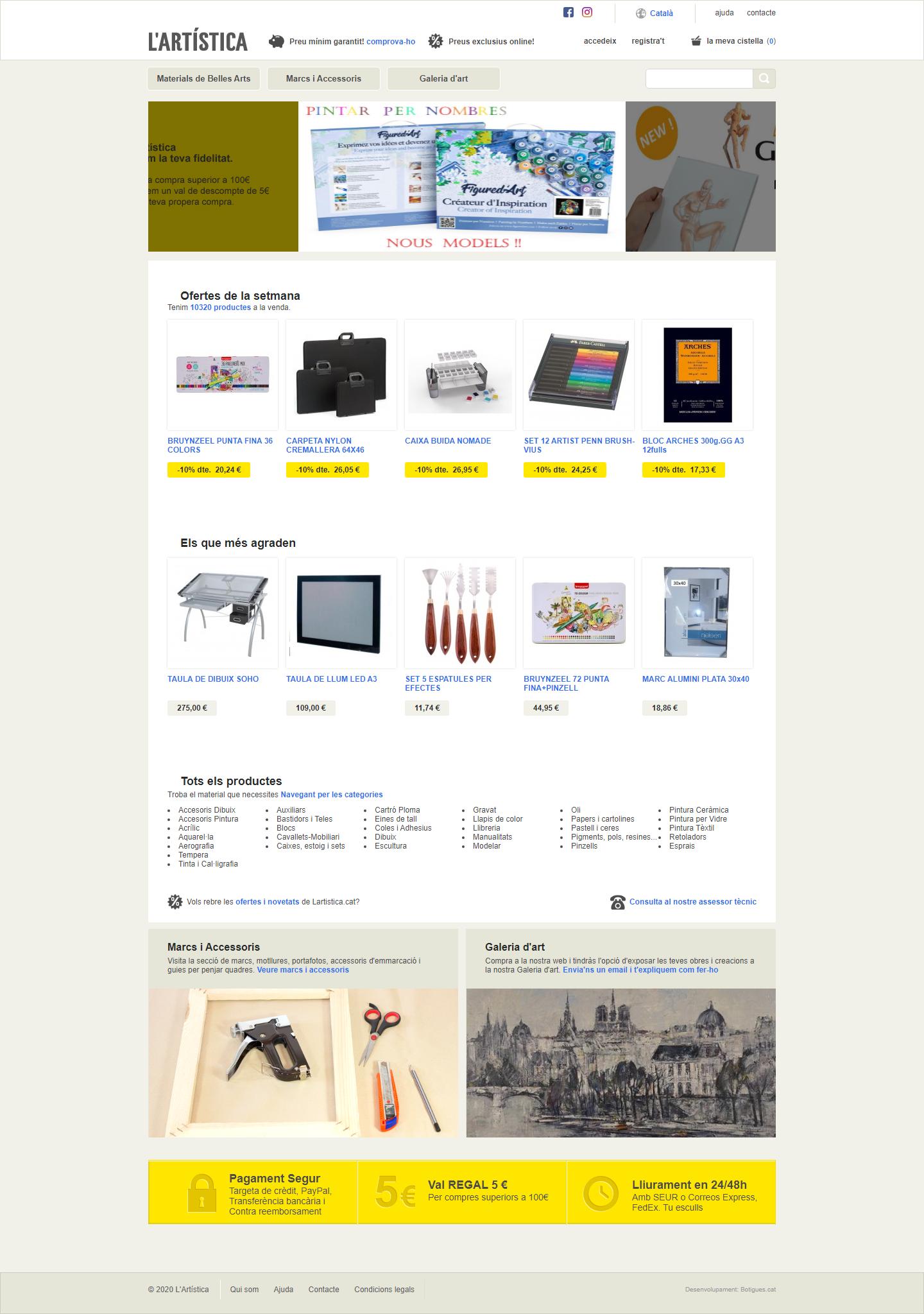 Botiga online L'Artística