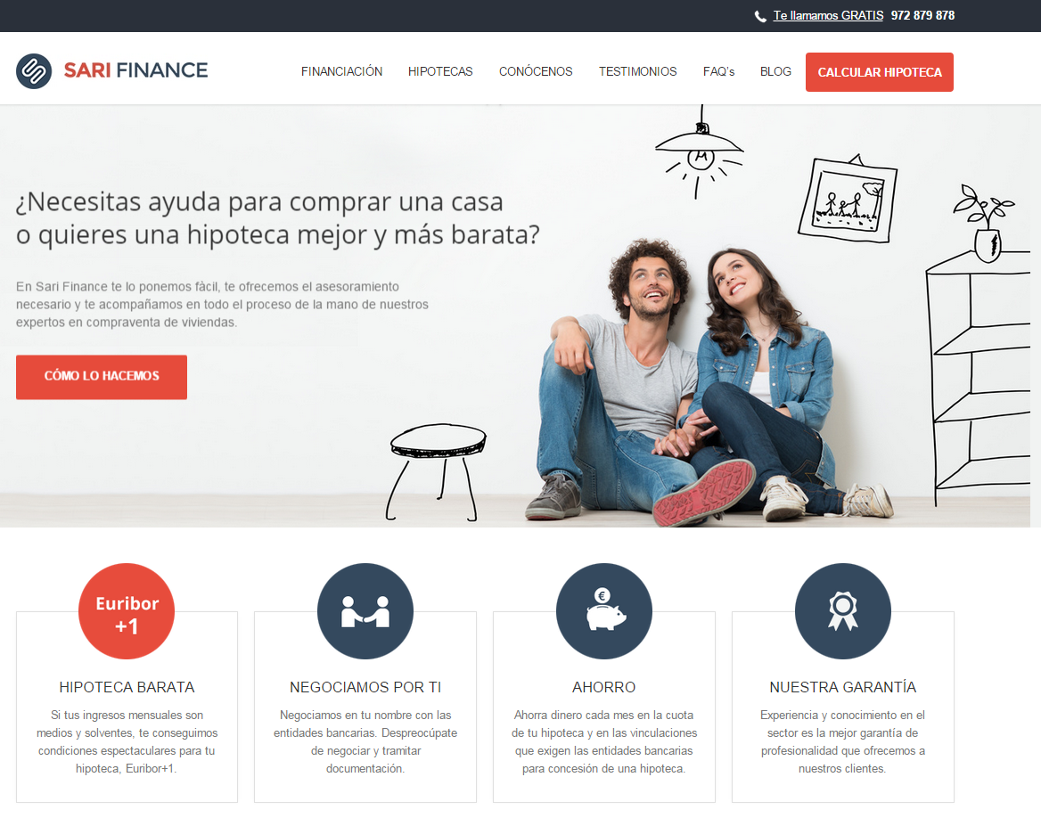Web corporativa Sarifinance
