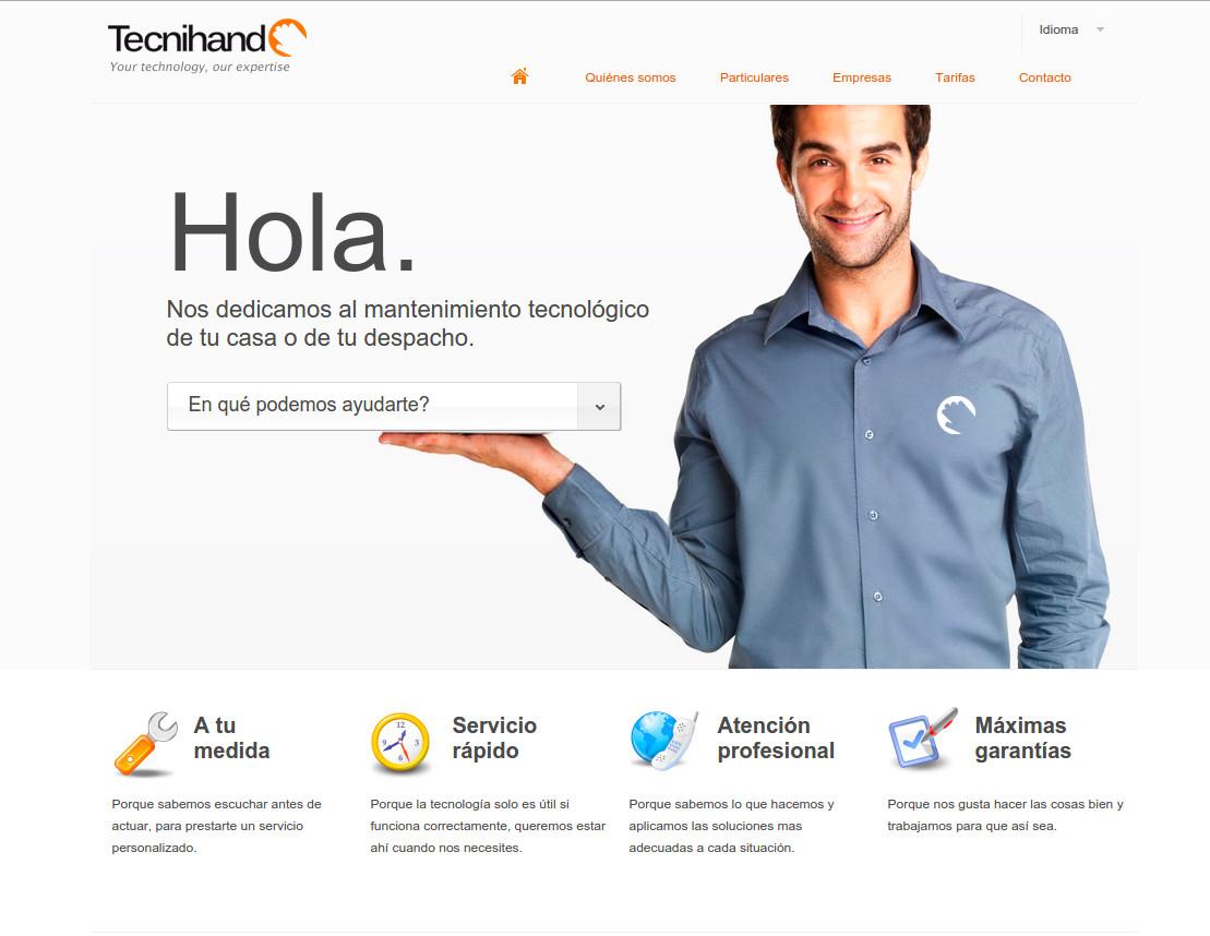 Web corporativa Tecnihand