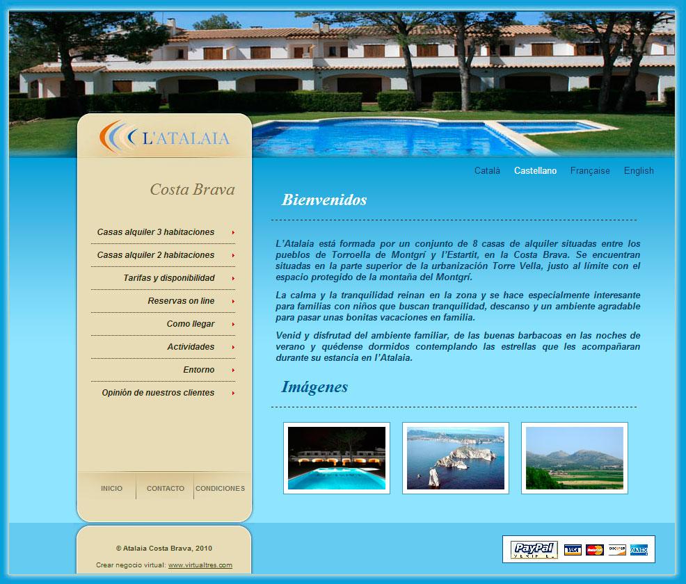 Web corporativa Atalaia Costa Brava