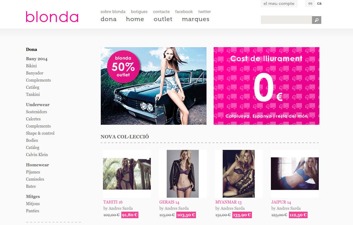 Botiga online Blonda