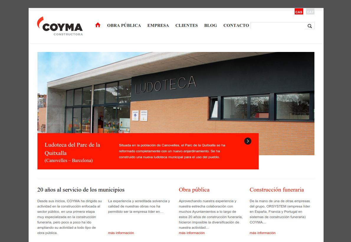 Web corporativa Coyma