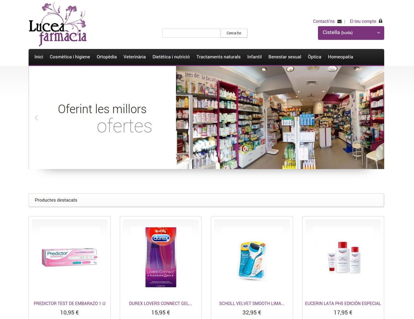 Botiga online Farmàcia Lucea