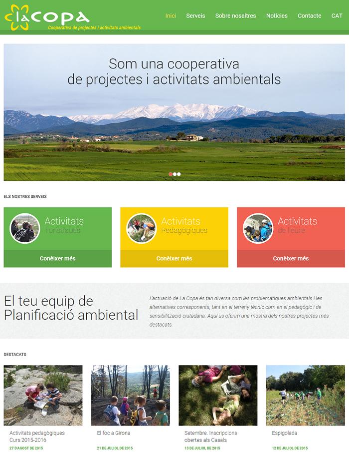 Web corporativa La Copa