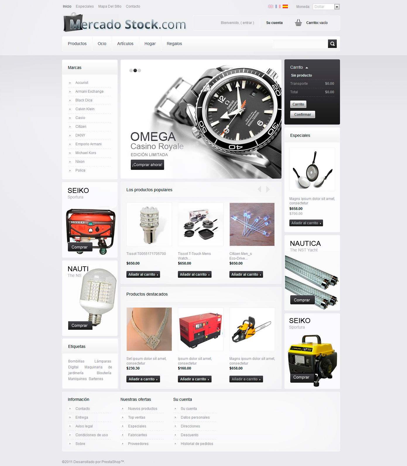 Tienda online Mercadostock