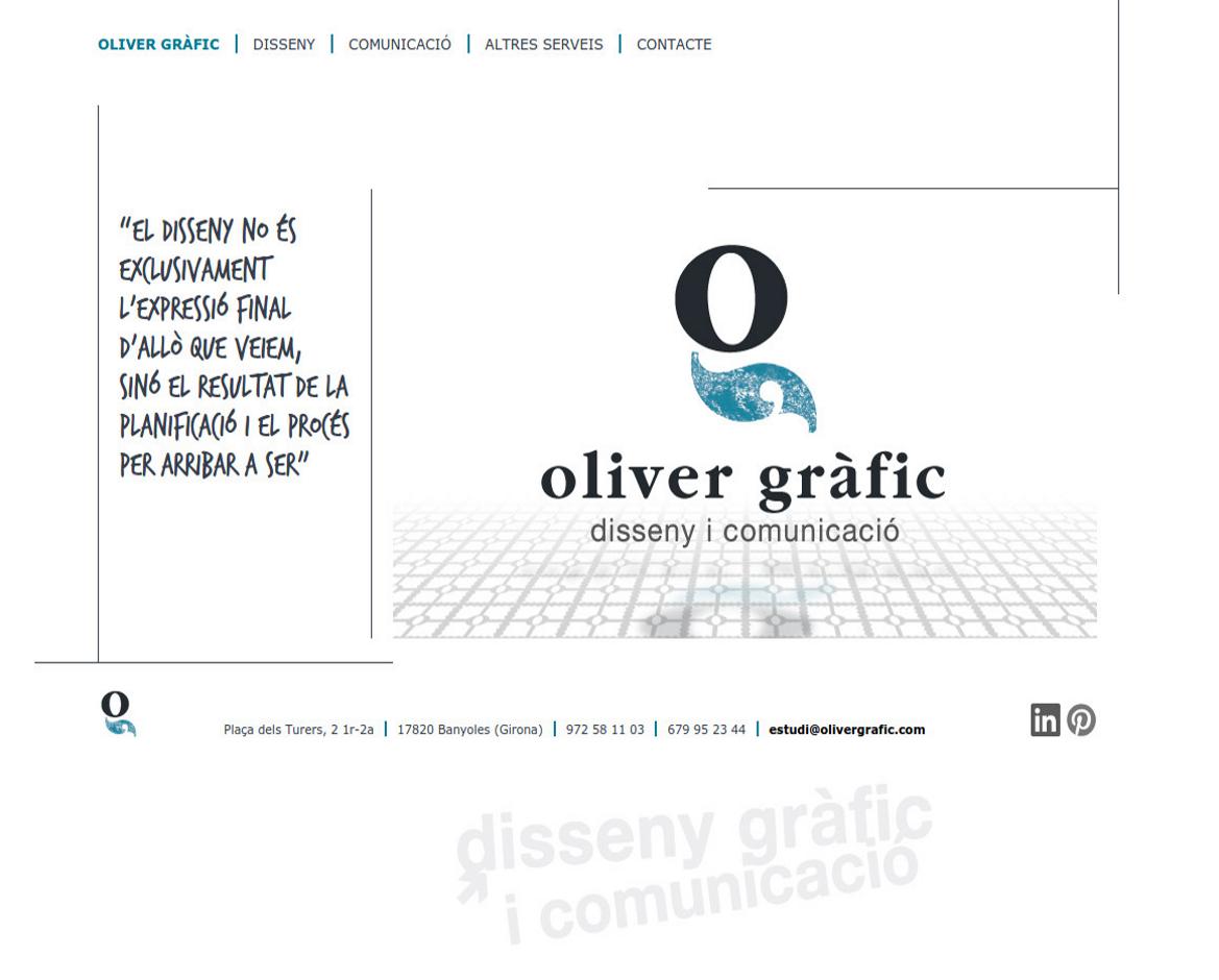 Web corporativa Oliver Gràfic