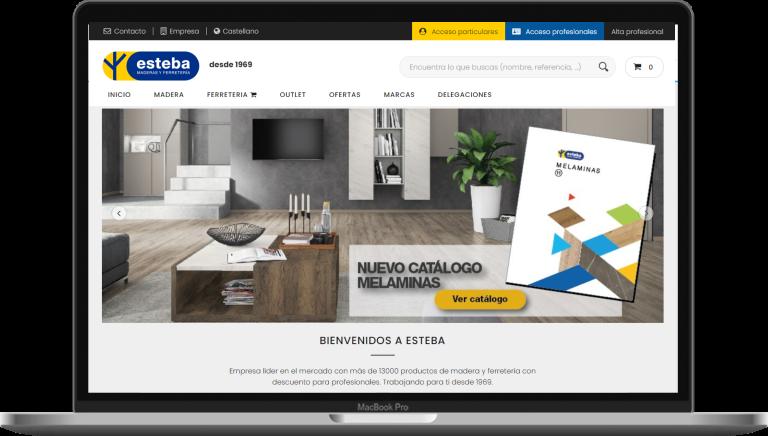 Portada tienda online Esteba