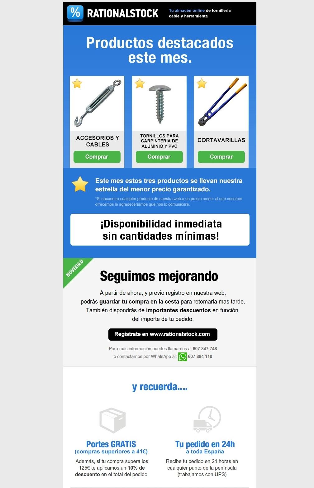 Web corporativa Rationalstock