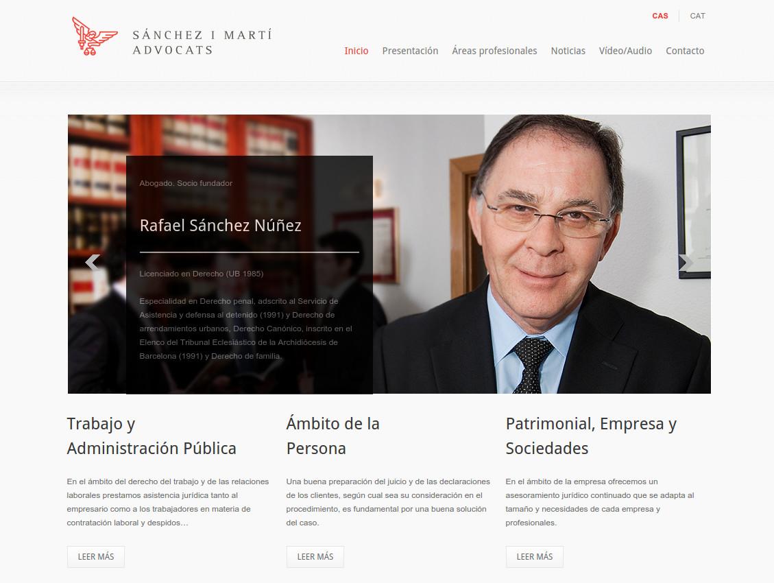 Web corporativa Sánchez i Martí abogados
