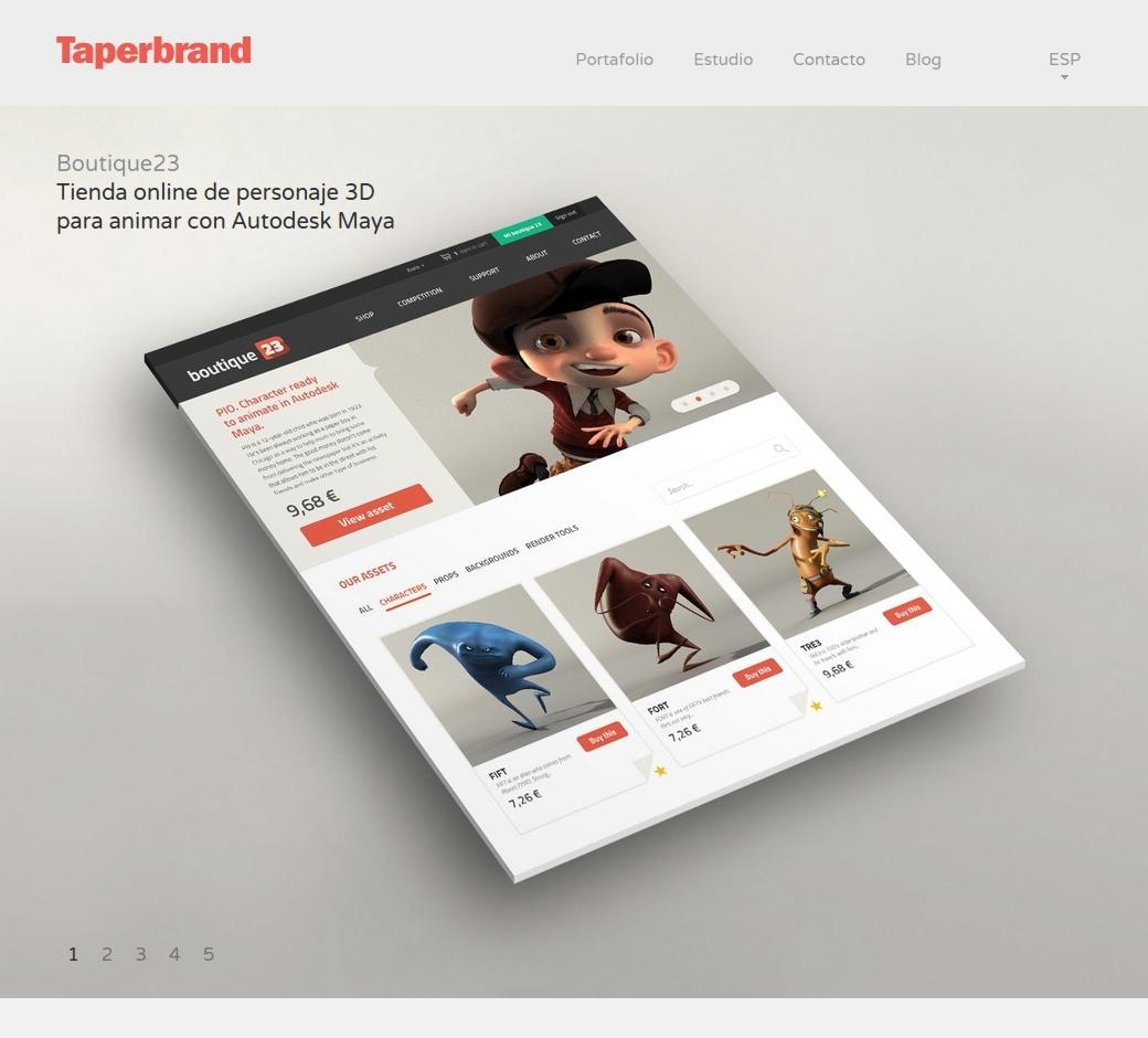 Web corporativa Taperbrand