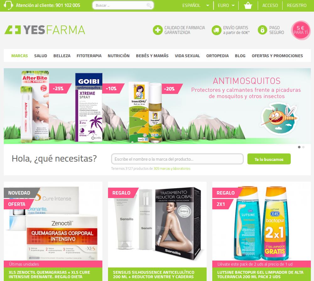 Botiga online Yesfarma